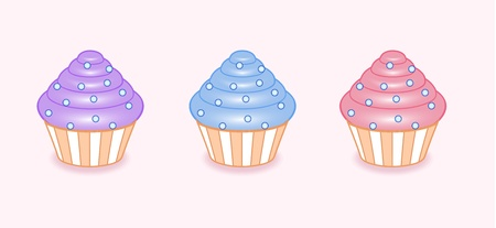 Vector cartoon cupcakes colorful delight Vector