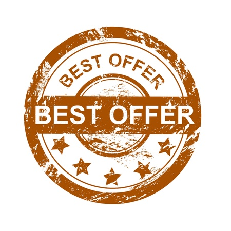 best: Best deal grunge vector rubber stamp
