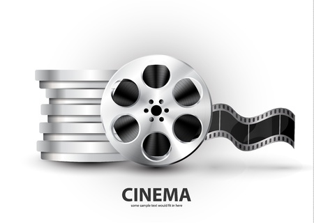 analogs: Vector metal textured film reel