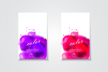 Vector bright colorful watercolor banners