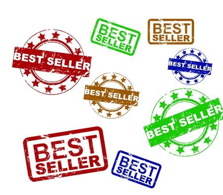 Vector best seller grunge stamp Stock Vector - 15045908