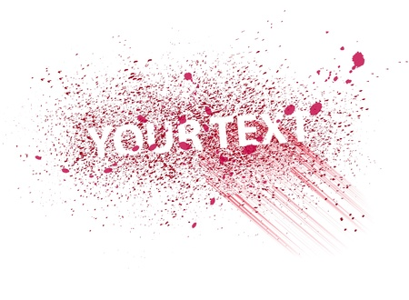 spatters: Vector colorful paint spray for your text