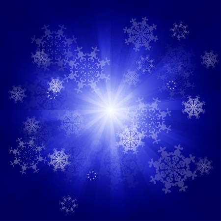 Vector snowflakes Christmas blue background Stock Vector - 17827153