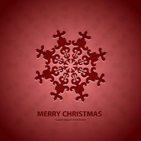 Vector snowflakes Christmas background pattern with sample text Stock Vector - 17827190