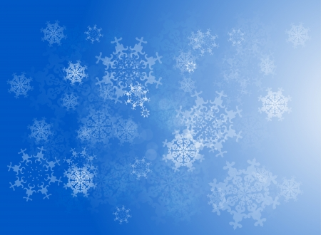 Vector snowflakes Christmas  winter background Stock Vector - 17827180