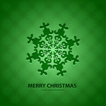 Vector snowflakes Christmas background pattern with sample text Vector