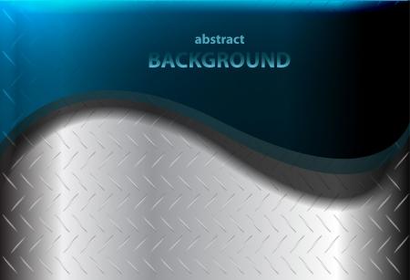blue metallic background: Vector metal wave background Illustration