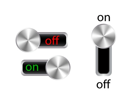 Vector on / off power switches Stock Vector - 17826609