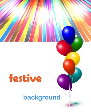 Vector colorful hot air balloons festive background Stock Vector - 17827042