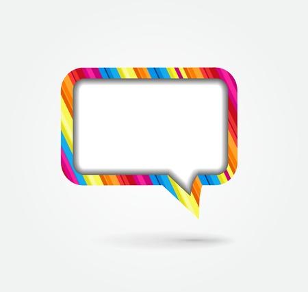 Vector speech bubble Illustration