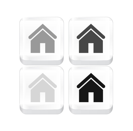 White vector home button isolated on white Stock Vector - 17826748