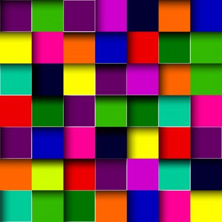 multi colors: Vector color mosaic tile background Illustration