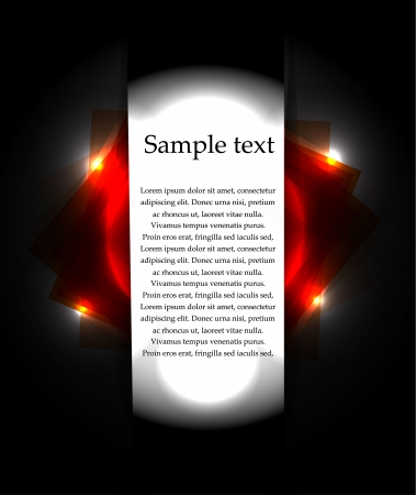 Vector black background with lights. Banner Stock Vector - 17826976