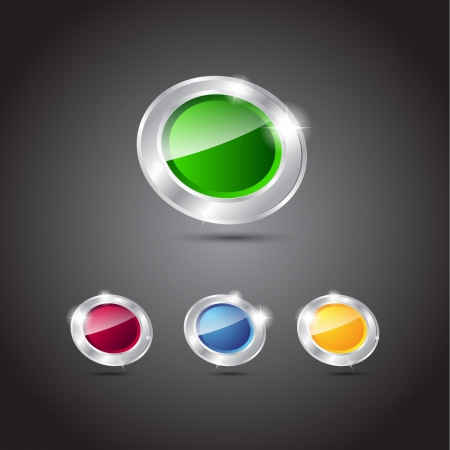 shiny buttons: Vector shiny glossy buttons