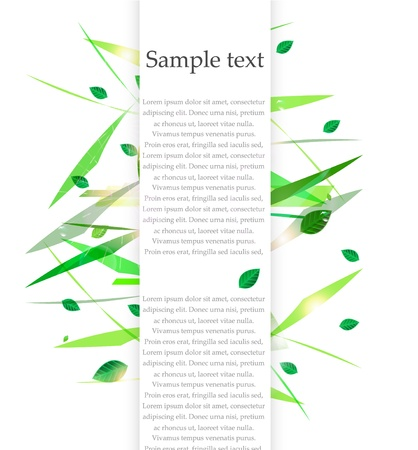 Vector green nature background with leaves Stock Vector - 17827036