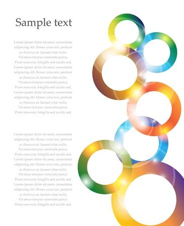 Shiny colofrul rainbow circle vector background Stock Vector - 17826995