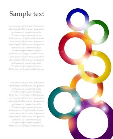 Shiny colofrul rainbow circle vector background Stock Vector - 17827003
