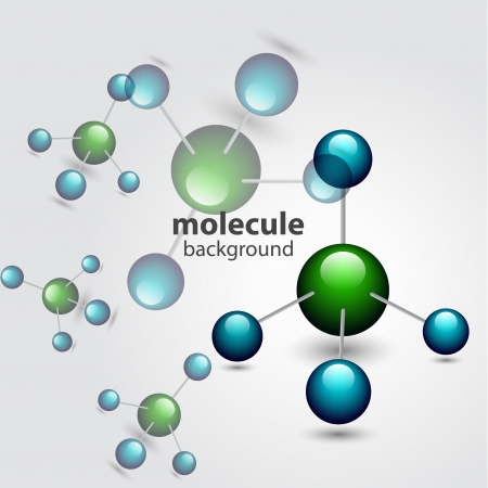 Vector molecule background Stock Vector - 17826209