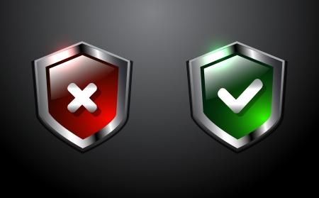 virus protection: Shiny vector shields