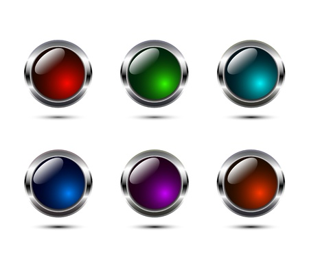 shiny buttons: Shiny vector buttons
