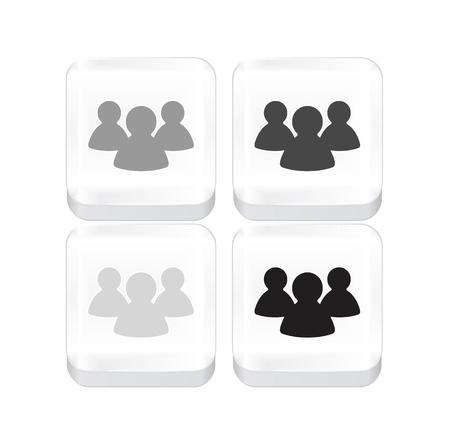 Vector white social network icon Stock Vector - 17826750