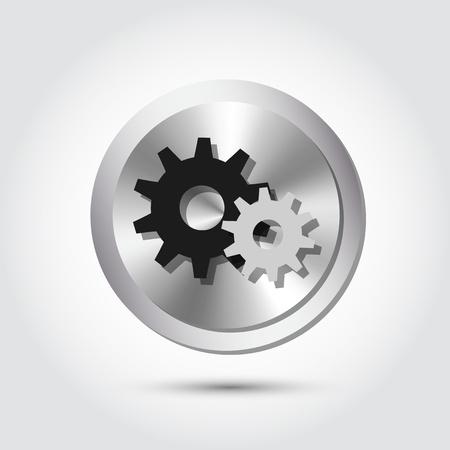 to revolve: Vector cogwheel icons
