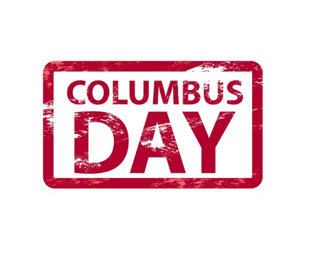 christopher columbus: Vector Columbusday grunge rubber stamp