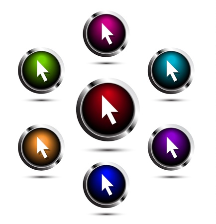 Shiny vector buttons Vector