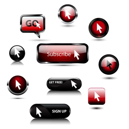 Vector register  subscribe buttons Vector