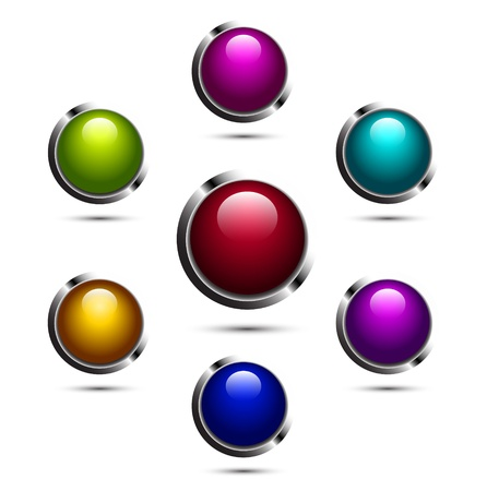 Shiny vector buttons Stock Vector - 17826143