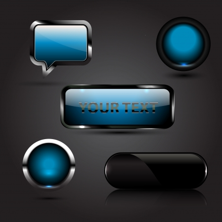 Shiny vector buttons Stock Vector - 17826963