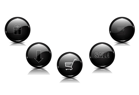 Black vector buttons Vector