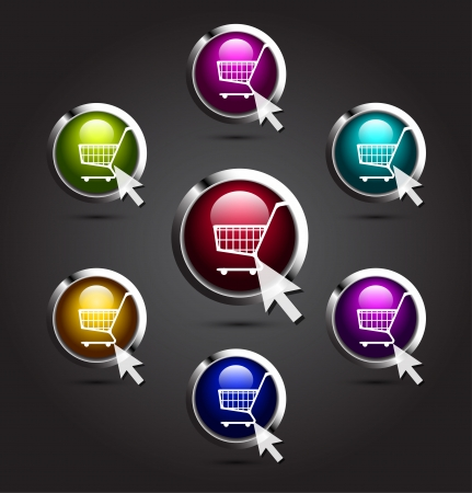 retailers: Vector shopping buttons