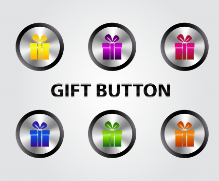 Vector gift buttons Stock Vector - 17826160