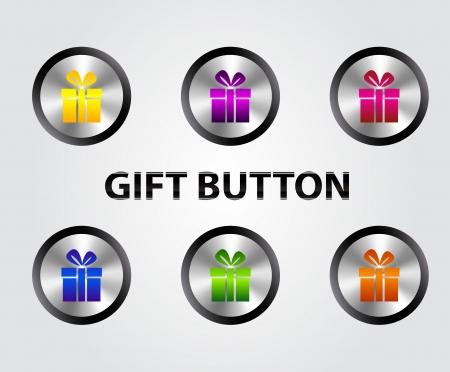 Vector gift buttons Stock Vector - 17826160