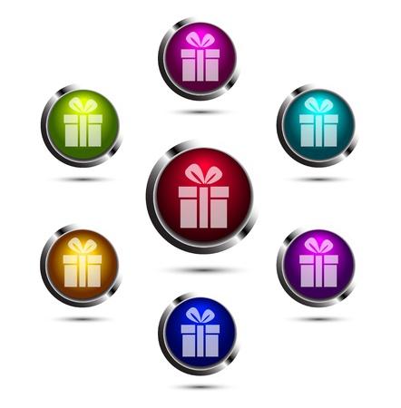 Vector gift buttons Stock Vector - 17826131