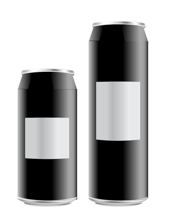 tall and short: Semi-realistic vector tin can: tall and short Illustration