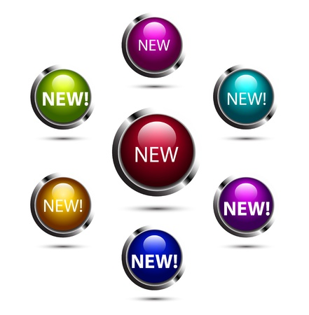 Shiny vector buttons Stock Vector - 17826156