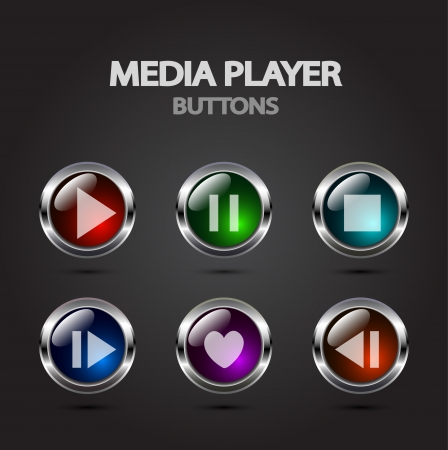 pause button: Media player vector