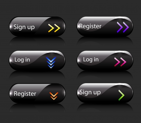Vector register  subscribe buttons Ilustrace