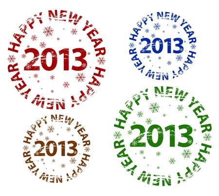 Vector Happy New Year grunge stamp Stock Vector - 17826981