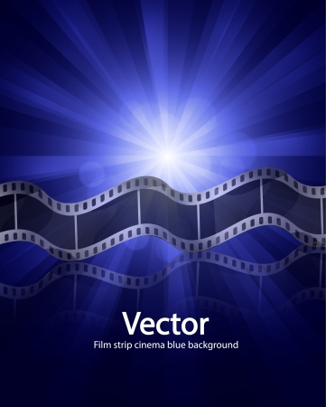 Vector film strip ciinema background Stock Vector - 17827086