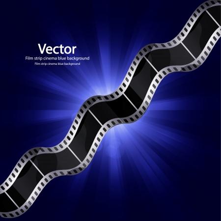 Vector film strip ciinema background Stock Vector - 17827099