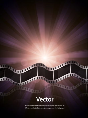 Vector film strip cinema background Vector