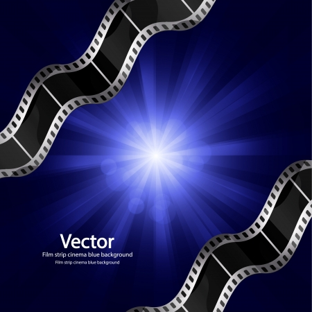 reel: Vector film strip cinema background