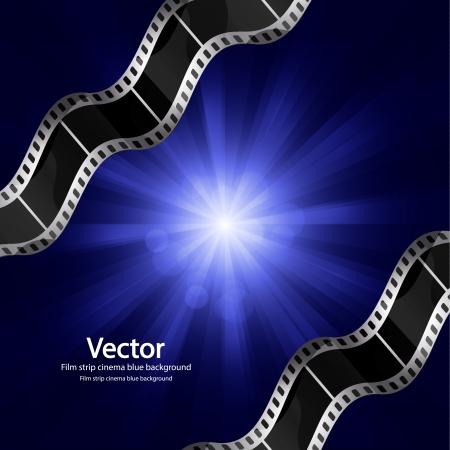 filmnegativ: Vector Filmstreifen Kino Hintergrund