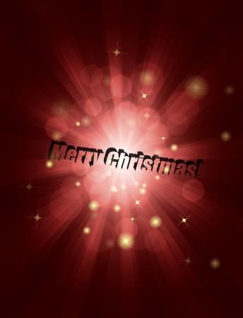Shiny rays Christmas background Stock Vector - 17827182