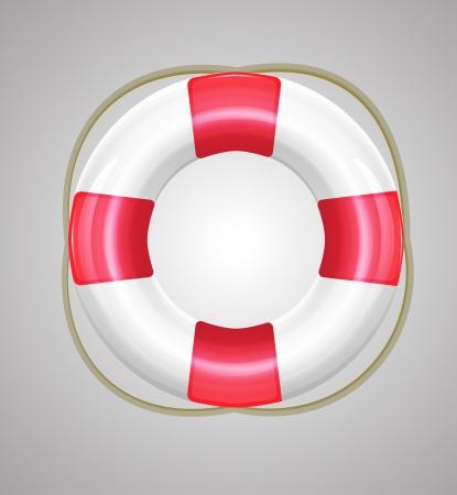 life buoy: Shiny stylish vector lifebuoy icons Illustration