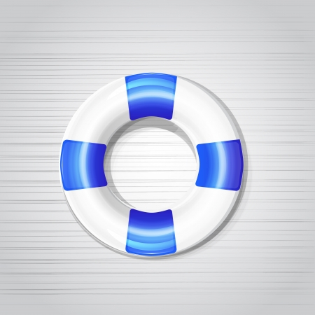 Shiny stylish vector lifebuoy icons Vector