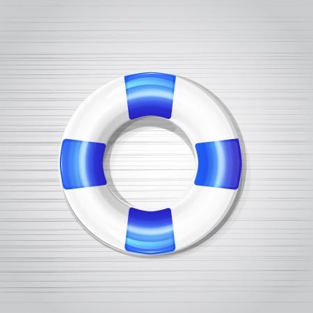 Shiny stylish vector lifebuoy icons Stock Vector - 17827143